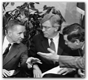 Ross Perot, Mark White and Bill Hobby, 1984. Briscoe Center collection, di_05952.
